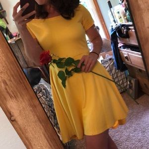 Adorable Yellow High-Low Dress
